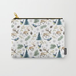 Winter forest. White pattern Carry-All Pouch