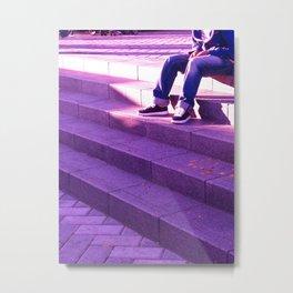 Portland in Purple Metal Print