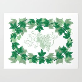 Abstract frame from grapevines Art Print