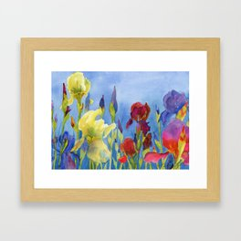 Blue Skies and Happiness Framed Art Print