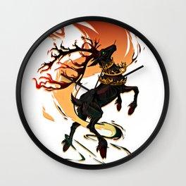 Crowned deer Wall Clock