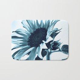 Pastel Blue Sunflower Bath Mat