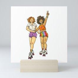 Rainbow Roller Girls Mini Art Print