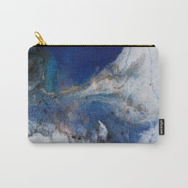 Abstract blue marble Carry-All Pouch