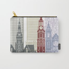 Amsterdam V2 skyline poster Carry-All Pouch