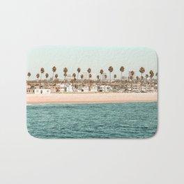 Vintage Newport Beach Print {1 of 4} | Photography Ocean Palm Trees Teal Tropical Summer Sky Bath Mat