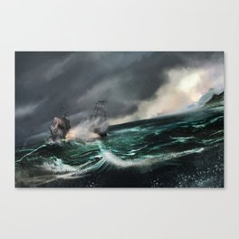 Pirate of the caribbean Canvas Print