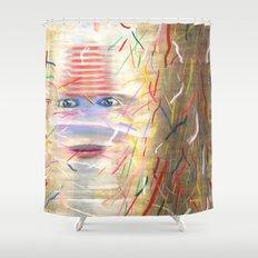 White Dreamer Shower Curtain