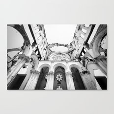 Inside the Cathedral Ruins Canvas Print