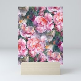 Pink floral pattern Mini Art Print