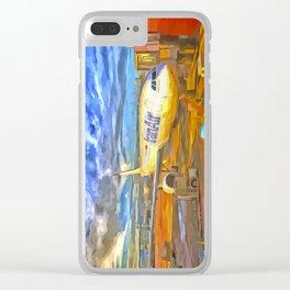 Iran Air Airbus A330 Pop Art Clear iPhone Case