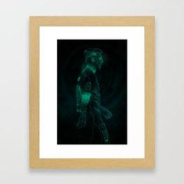 MESSI / GLOW ART Framed Art Print