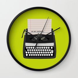 the perks of being wallflower Wall Clock