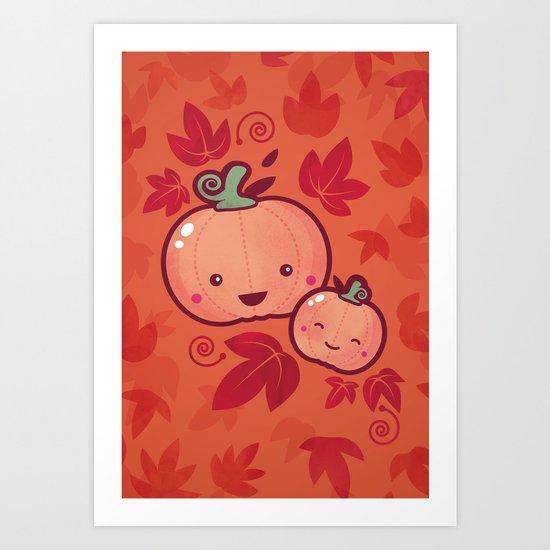 Fall Frolic (in orange) Art Print