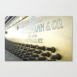Abandoned Piano Urban Exploration Urbex Canvas Print