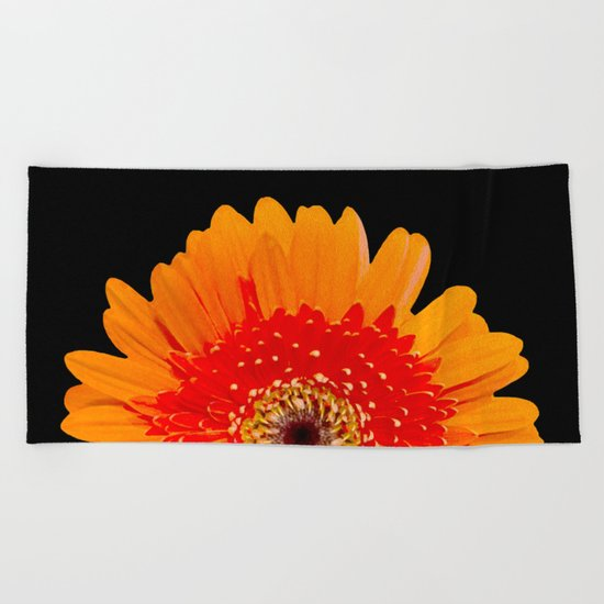 ORANGE GREETING Beach Towel