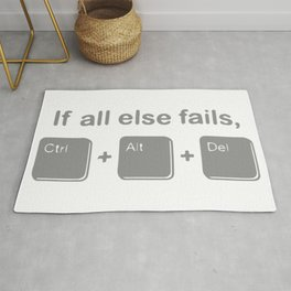 If All Else Fails, Ctrl Alt Delete Rug