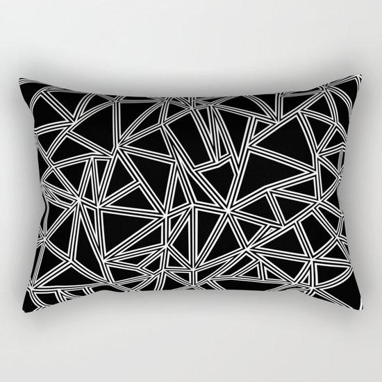 Abstract New White on Black Rectangular Pillow