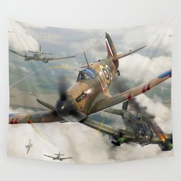 Spitfire vs He111 Wall Tapestry