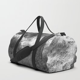 Black and white country forest Duffle Bag