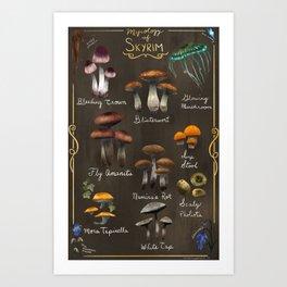 Skyrim Mycology Poster Art Print