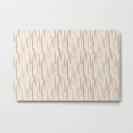 Cavern Clay SW 7701 Grunge Vertical Stripes on Creamy Off White SW7012 Metal Print
