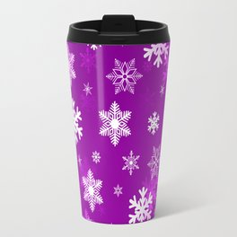 Light Lilac Snowflakes Travel Mug