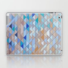 Triangle Pattern no.1 Blues and Browns Laptop & iPad Skin