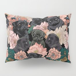 Because Black Pug Pillow Sham