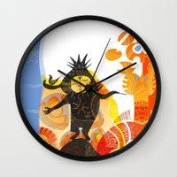 elf Wall Clocks featuring Saharan Elf by Zendigo Art