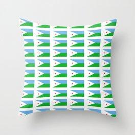 flag of Djibouti -djiboutian,Jabuuti,Gabuuti,Djiboutien,punt,aksum,aden Throw Pillow