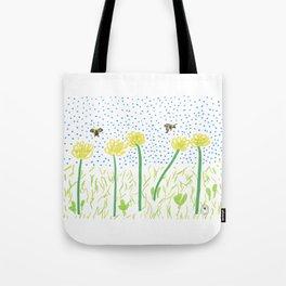 Honey Bees Love Flowers Tote Bag