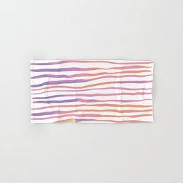 Irregular watercolor lines - pastel pink and ultraviolet Hand & Bath Towel
