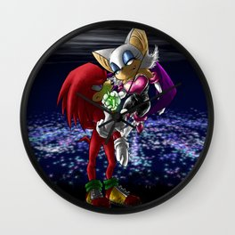 Knuckles the Echidna & Rouge the Bat - Gimme my Emerald! Wall Clock