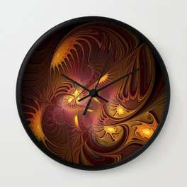 Coming Home, Abstract Fantasy Fractal Art Wall Clock
