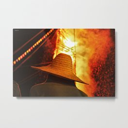 hot head Metal Print