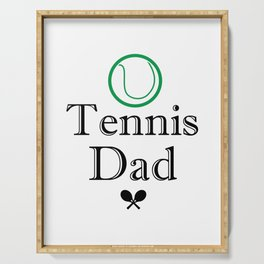 Tennis Dad Fathers Day Gift Love Tennis Serving Tray