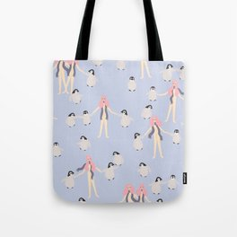 March of the Penguins Tote Bag