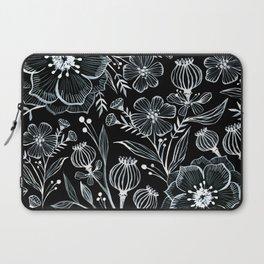 Blck and White Botanika Laptop Sleeve