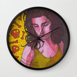 Polly Jean and Ghosts Wall Clock