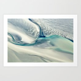 Sandy Point Broome Low Tide Patterns Art Print