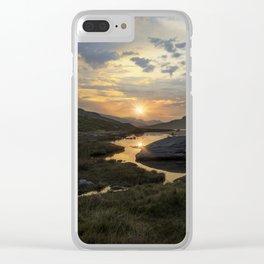 Tryfan Sunrise Clear iPhone Case