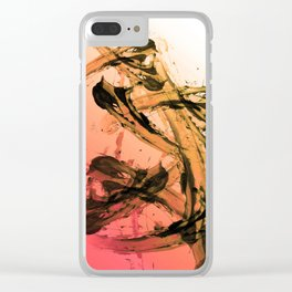 Calm and Fiery Abstraction Clear iPhone Case