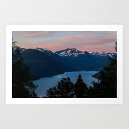 Midnight Sunset Art Print