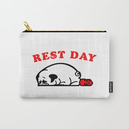 Rest Day Pug Carry-All Pouch