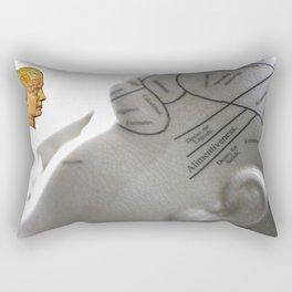 Phrenology   A Picture of Good Health circa 1881 Rectangular Pillow