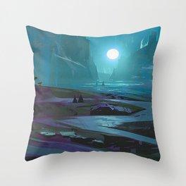 Dark Valley Throw Pillow