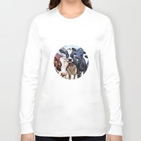 cows Long Sleeve T-shirts featuring Funny cows by George Peters