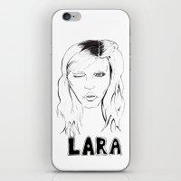 megan lara iPhone & iPod Skins featuring Lara by Lacee Swan