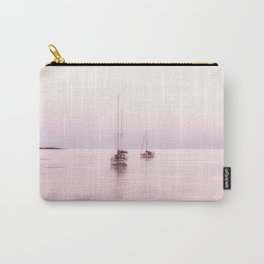 Pink Bahama Sunrise with sail boats Carry-All Pouch